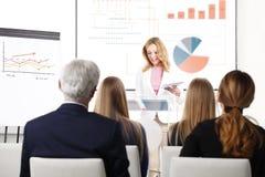 Giving presentation Stock Photography