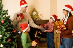 Giving presents Stock Images