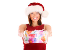 Giving presents Royalty Free Stock Photos