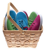 Giving Shoes to the Needy Stock Images