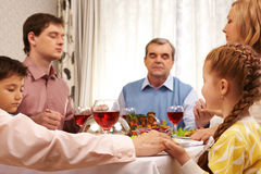 Giving thanks to God royalty free stock image