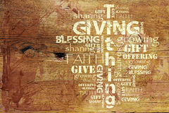 Giving and Tithing Background Royalty Free Stock Image