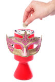 Giving to charity masquerade ball Royalty Free Stock Photos