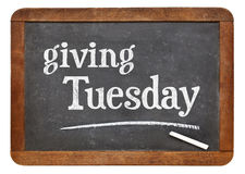 Giving Tuesday blackboard sign Royalty Free Stock Images