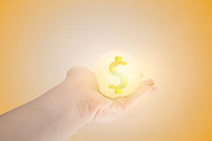 Giving wealth money goodness fortune. Hand giving wealth money goodness fortune concept Royalty Free Stock Photos