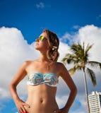 Giving you beautiful beach smile Stock Photo