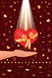 Giving you my love. Giving you my heart - love card for the celebration of a special day. Vector file saved as EPS AI8, also available Royalty Free Stock Photos