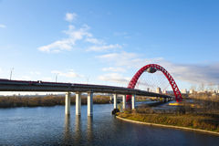 The Givopisny Bridge in Moscow . Royalty Free Stock Image