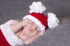 Givré le bonhomme de neige nouveau-né Images libres de droits