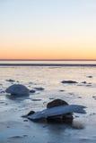 Givrages par le littoral Photo stock