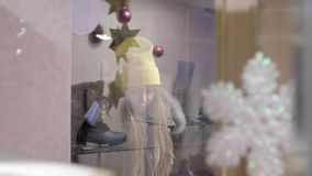 Giwl Sklepowym okno zbiory wideo