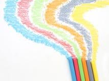 Giz colorido Imagens de Stock Royalty Free