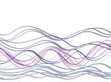 Giz de Callygraphic WavesPastel ilustração stock