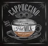 Giz do cappuccino do cartaz ilustração stock