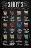 Giz do menu dos tiros Imagem de Stock Royalty Free