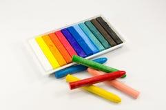 Giz e cores pastel Foto de Stock Royalty Free