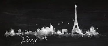 Giz Paris da silhueta ilustração do vetor