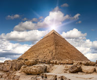 πυραμίδα giza Στοκ φωτογραφία με δικαίωμα ελεύθερης χρήσης