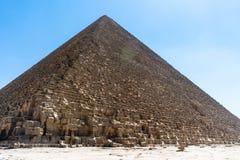 Giza, Cairo, Egypt - Cheope Pyramid. The Giza, Cairo, Egypt - Cheops Pyramid royalty free stock photo
