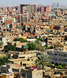 Giza city. Giza residential neighbourhood from plateau at sunny day Royalty Free Stock Photos