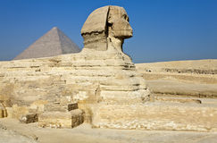 Giza. Egypt, archaeological site of Giza, the sphinx Stock Photos