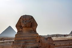 GIZA, EGYPT - FEBRUARY, 2010: The Great Sphinx of Giza Stock Image