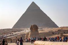 GIZA, EGYPT - FEBRUARY, 2010: The Great Sphinx of Giza Stock Photos
