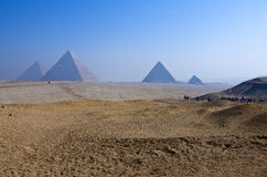 Giza. Egypt, the pyramids of the archaeological site of Giza Stock Photography