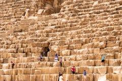 GIZA, EGYPT 25.05.2019 Security guards at entrance to pyramid at Giza in Cairo Egypt. GIZA, EGYPT - NOVEMBER 19, 2011: Security guards at entrance to pyramid at stock image