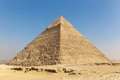 Giza Menkaure pyramids, Egypt (stadium). Close of Giza Great and famous Egyptian pyramids (Menkaraa Stock Photos
