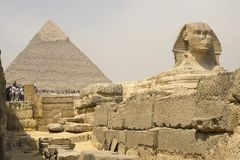 The Great Sphinx. Egyptian Sphinx. The seventh wonder of the world. Ancient megaliths. Stock Photography