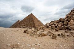Giza Necropolis. Egypt Stock Images