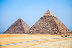 The giza necropolis and pyramids. Royalty Free Stock Images