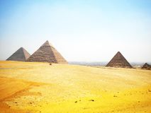 Giza. Piramids giza egypt nature landscape Stock Photography