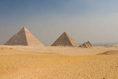 Giza Plateau. The Pyramids on the Giza Plateau Stock Photos