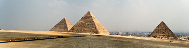 Giza plateau Royalty Free Stock Images