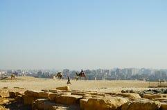 Giza Plateau - Cairo - Egypt Stock Image