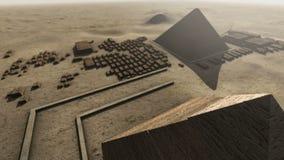 Giza platform Egypt. An animation from above 4K