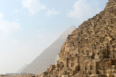 Giza pyramids in Egypt Stock Image