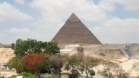 The Giza pyramid complex stock photo