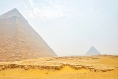 The old Pyramin of Khafre in Giza, Egypt royalty free stock image