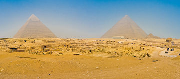 The Giza pyramid complex Royalty Free Stock Image