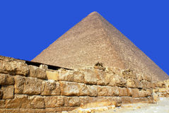 Giza pyramid Egypten Fotografering för Bildbyråer