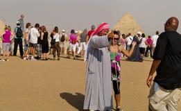 Giza pyramid, Kairo, Egypten Royaltyfri Foto