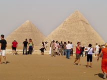 Giza pyramid, Kairo, Egypten Arkivfoto
