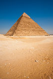 Giza Pyramid Khafre Desert Empty Vertical Royalty Free Stock Photo