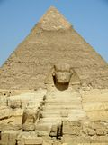 Giza Pyramid and Sphinx Royalty Free Stock Images