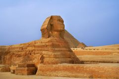 Giza pyramid and sphinx Royalty Free Stock Photos