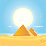 Giza Pyramid Square Poster Stock Photography