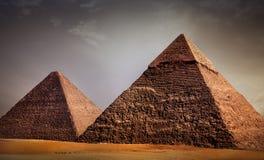 Giza-Pyramiden stockbilder